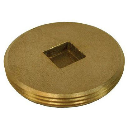 JONES P51-600 ROUGH BRASS COUNTERSUNK PLUG 6""