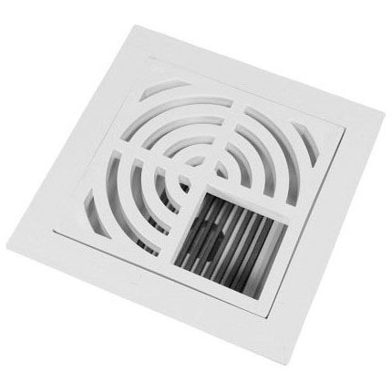 """3"""" PVC FLOOR SINK 3/4 TOP GRATE BOTTOM DOME STRAINER (861-3PD) (S49-053)"""
