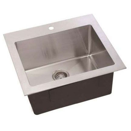 LENOVA SS-LA-01 25X22X12 STAINLESS STEEL LAUNDRY SINK SINGLE HOLE TOP MOUNT OR UNDER MOUNT