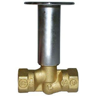 LOG LIGHTER VALVE PB STRAIGHT 1/2