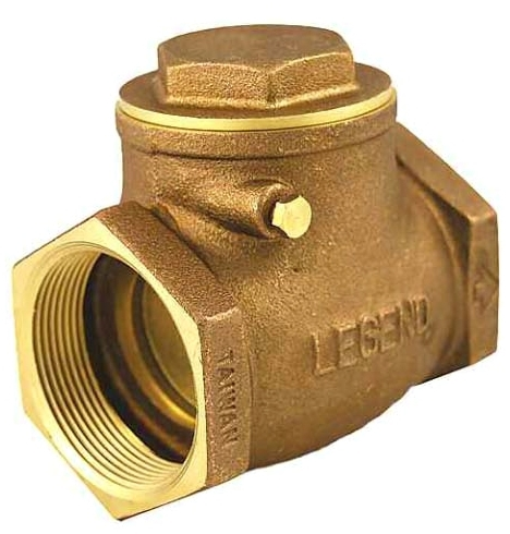 "LEGEND (LFC) 105-105NL 1"" IPS BRASS SWING CHECK VALVE T-451"