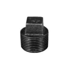 STD BLK PLUG SQUARE HEAD STEEL 3/4""