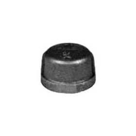 STD BLK CAP STEEL 1/2""