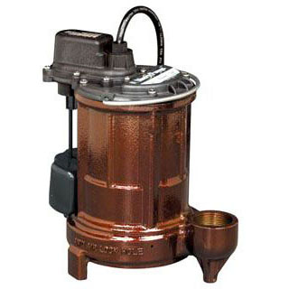 LIBERTY 257 SUBMERSIBLE SUMP PUMP 1/3 HP, CAST IRON, VERTICAL MAGNETIC FLOAT (3 YEAR LIMITED WARRANTY)