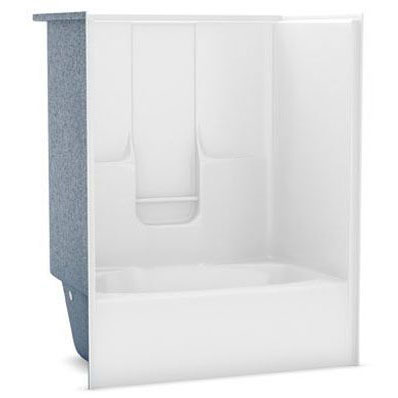//WSL// AKER GTW-4260 WHITE (141007-L-000-002-001) LEFT HAND DRAIN TUB-SHOWER MC230116
