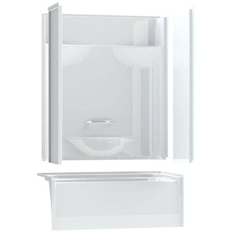 //WSL// AKER KDTS-2954-L WHITE 4-PC TUB SHOWER LEFT DRAIN 142000-L-000-002-194 **ASSM** MC304873