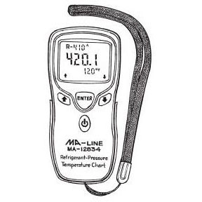 MONTI MA-12834 DIGITAL PRESSURE AND TEMP CHART