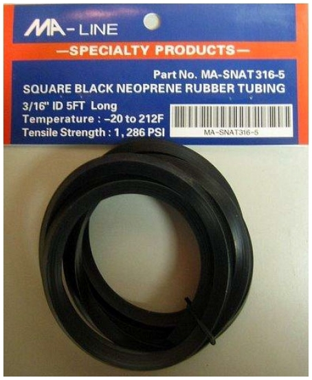 MONTI MA-NAT316-5 NEOPRENE AIR TUBING 3/16