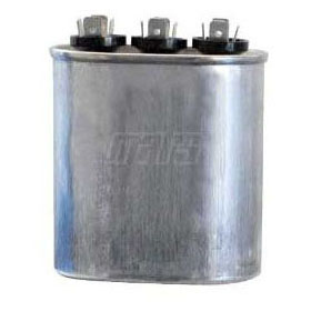 CAPACITOR 370 VAC 25/5 UF MOTOR RUN (OVAL) (MARS 12966) (3GJ0525)