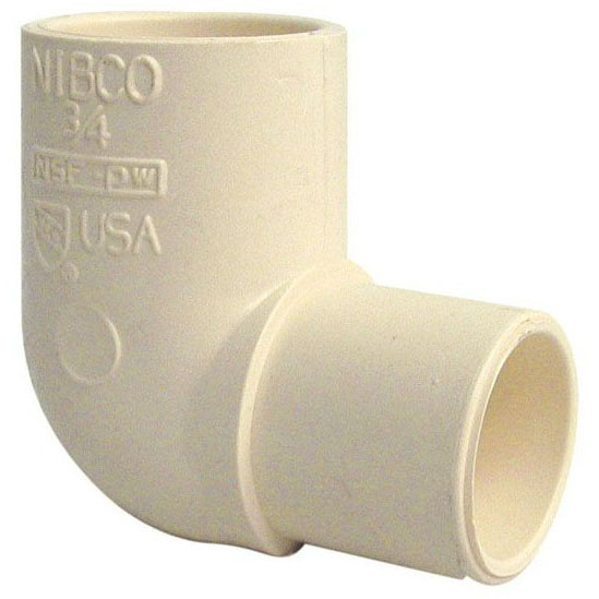 "CPVC 529B TUBE SIZE 90 STREET ELBOW 3/4"" (4707-2) (52907) (SPEARS 4109-007)"