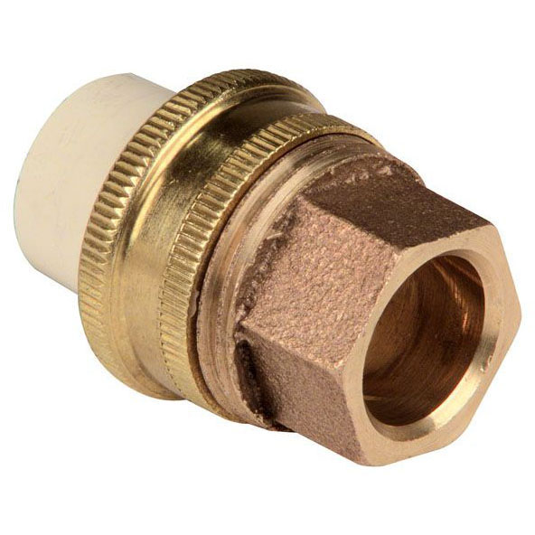 CPVC 4733-LF 1/2 TUBE SIZE UNION (CTS)XCOPPER(SWT) MC3823