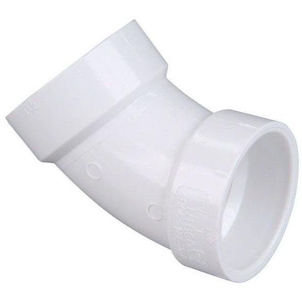 """PVC-DWV 4806 45 ELL 2"""" (PVC 321)"""