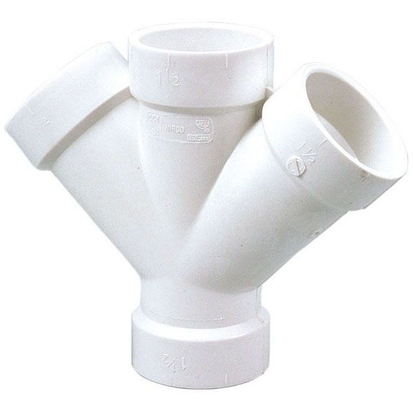 PVC-DWV 4834 DOUBLE WYE 1-1/2