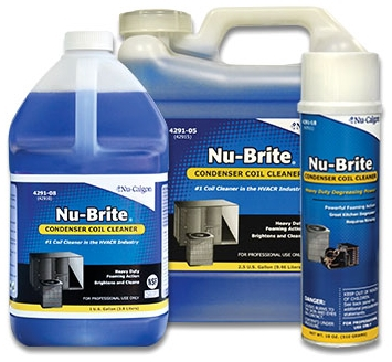 NU-CALGON 4291-08 NU-BRITE GALLON FOAMING OUTDOOR CONDENSER & COIL CLEANER (SAFE FOR MICROCHANNEL)