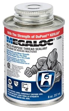 HERCULES 15-806 MEGALOC THREAD SEALANT 1/2 PT (SDS #142 NOT REQUIRED DOT) MC596