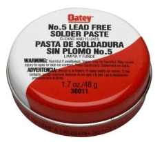 OATEY 30014 8OZ SOLDER PASTE #5 (SDS #73 NOT REQUIRED DOT) MC68510