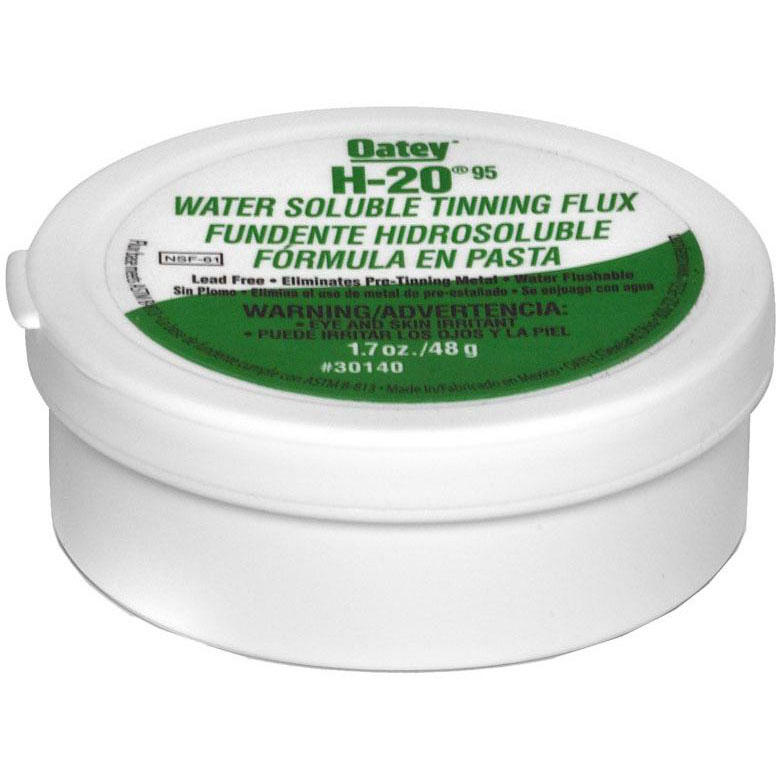 //WSL// OATEY 30140 H20 WATER SOLUBLE TINNING FLUX 1.7oz (WHEN OUT NO LONGER AVAILBLE) (SDS NOT REQUIRED)