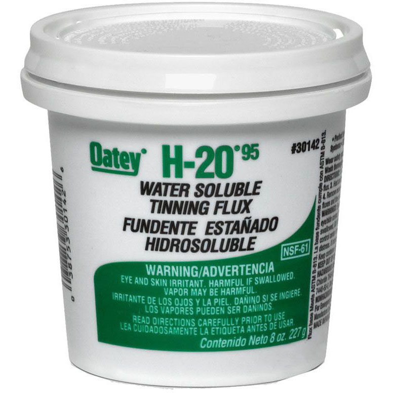 OATEY 30142 H20 WATER SOLUBLE TINNING FLUX 8oz (SDS NOT REQUIRED)