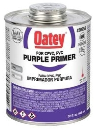 OATEY 30758 QT PURPLE PRIMER (FOR USE ON PVC AND CPVC) MC80125