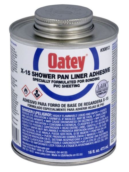 OATEY 30812 X-15 COMPOSEAL CEMENT (SHOWER PAN LINER ADHESIVE) PINT