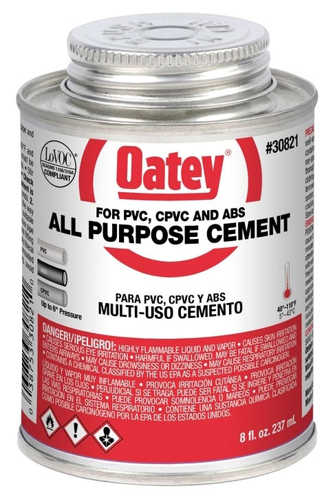 OATEY 30821 8oz ALL PURPOSE CEMENT CLEAR MC7925