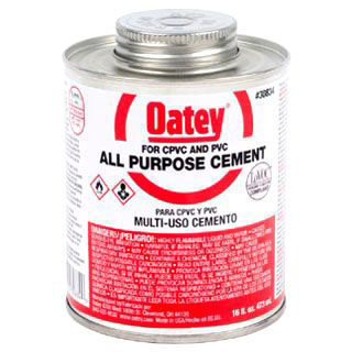 OATEY 30834 16oz ALL PURPOSE CEMENT CLEAR MC2843
