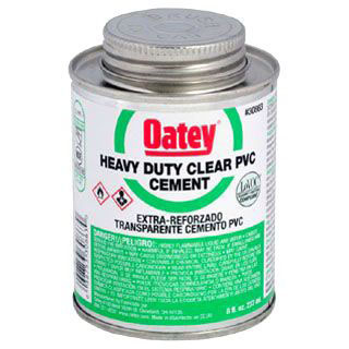 OATEY 30863 8oz PVC CEMENT HEAVY DUTY (SAME AS HERCULES 60-155) MC2838