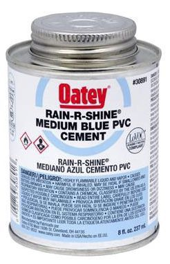 OATEY 30890 4OZ PVC RAIN-R-SHINE CEMENT