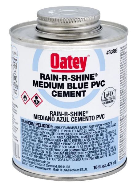 OATEY 30893 16oz PVC RAIN-R-SHINE CEMENT MC6341