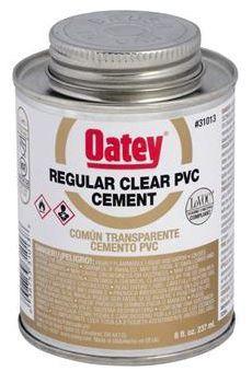 OATEY 31013 8oz PVC CEMENT REGULAR CLEAR MC2094