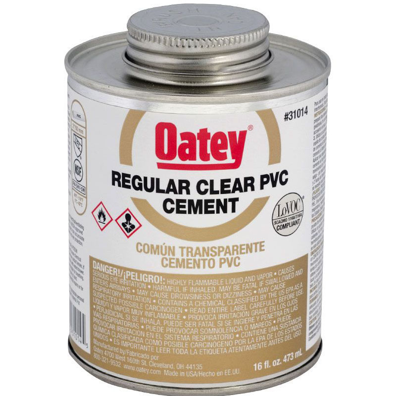OATEY 31014 16oz PVC CEMENT REGULAR CLEAR