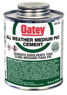 OATEY 31132 16oz ALL WEATHER PVC CEMENT