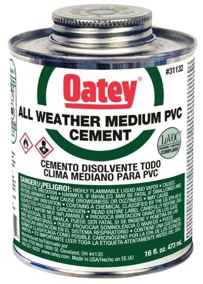 OATEY 31133 32oz ALL WEATHER PVC CEMENT MC3940