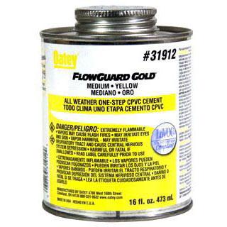OATEY 31912 16OZ CPVC FLOWGUARD GOLD CEMENT