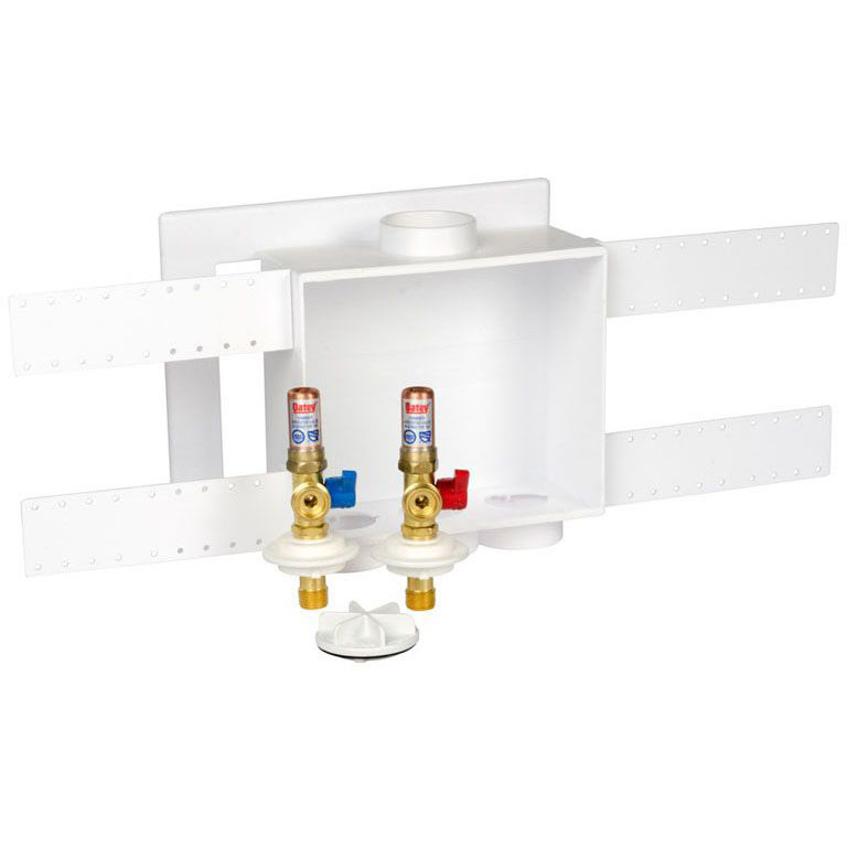OATEY 38540 SWT W/ HAMMER ARRESTORS QUADTRO WASHING MACHINE OUTLET BOX 1/4 TURN BRASS BALL VALVE 1/2