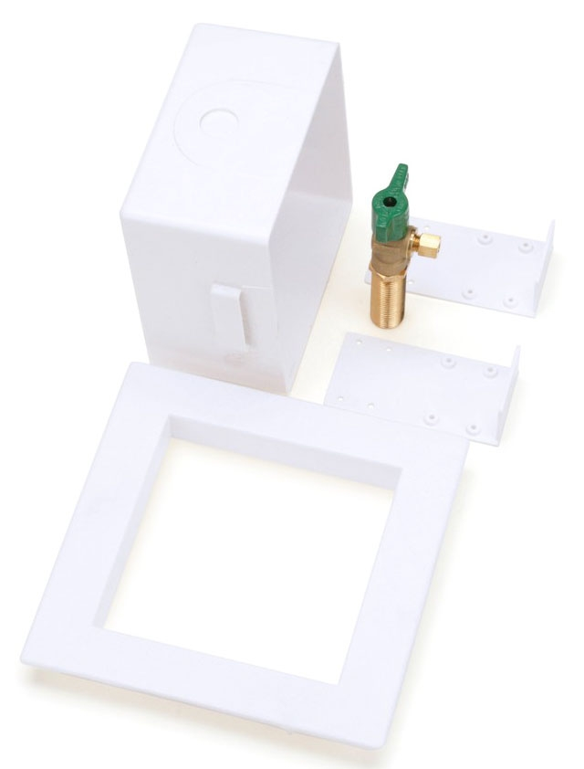 OATEY 39156 ICE MAKER BOX W/ VALVE WHITE **LEAD FREE COMPLIANT** MC321396
