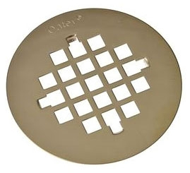 """OATEY 42137 4-1/4"""" SNAP-TITE SHOWER STRAINER, POLISHED BRASS **PVD*** (FITS 42150 42099 42045) (WHEN OUT NO LONGER AVAILABLE)"""