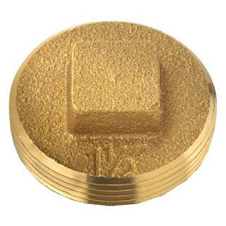 OATEY 42369 BRASS CLEANOUT SQUARE HEAD PLUG 1-1/2