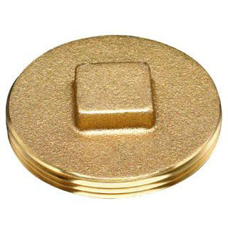 "OATEY 42372 3"" BRASS CLEANOUT SQUARE HEAD PLUG"