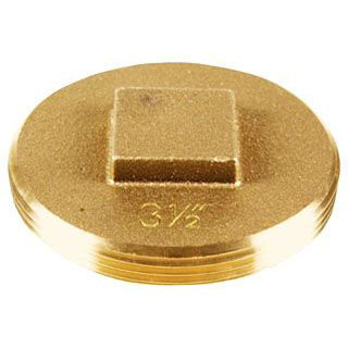 "OATEY 42373 3-1/2"" BRASS CLEANOUT SQUARE HEAD PLUG"