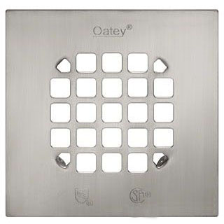 OATEY 46268 SQUARE SNAP-IN STRAINER BRUSHED NICKEL (FITS 42237)