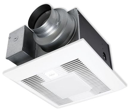 PANASONIC FV-0511VKSL2 WHISPERGREEN SELECT FAN/LIGHT, PICK-A-FLOW AIRFLOW SELECTOR 50, 80 OR 110 CFM FAN WITH ECM MOTOR, PRE-INSTALLED MULTI-SPEED 0, 30~110 CFM, <0.3, 0.4 SONE, 10W LED CHIP PANEL, <1W NIGHT LIGHT, UP TO 2 PLUG 'N PLAY MODULES. SINGLE-HINGED FLEX-Z FAST INSTALLATION BRACKET, INTEGRATED DUAL 4