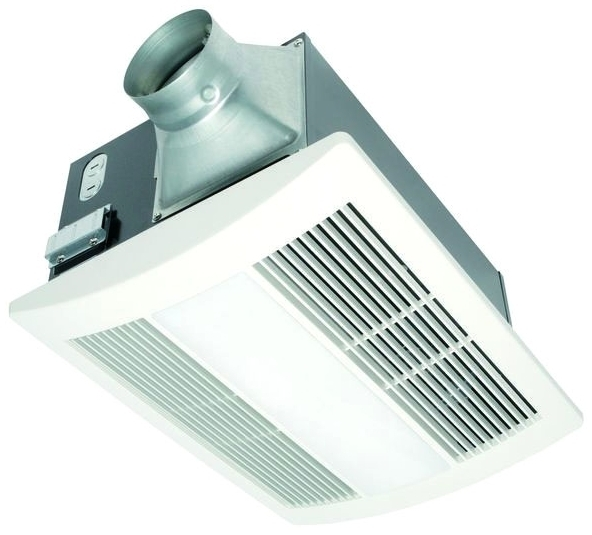 PANASONIC FV-11VHL2 WHISPERWARM BATH FAN-HEAT-LIGHT, VENTILATING W/NIGHT LIGHT 110 CFM .7 SONES