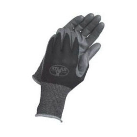ATLAS 370L NITRILE GLOVES LARGE BLACK MC306265
