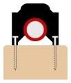 MANGONE P4BK PIPE CLIPS (100 PK) 1/2