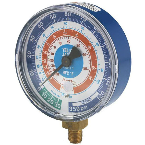 """RITCHIE 49138 REPLACEMENT GAUGE BLUE 3-1/8"""""""