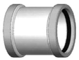 PLASTIC TRENDS H604 SDR26 PVC GASKETED STOP COUPLING 4