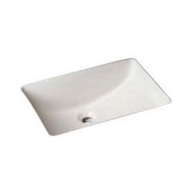 REVERE NVC1814WH RECTANGULAR UNDERMOUNT LAVATORY BOWL, WHITE