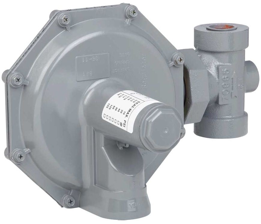 "ROCKWELL 143-80-2 1-1/4"" SERVICE REGULATOR 1/2"" ORIFICE 6-14""WC (SE12594)(SE12593) (GASCO GA17740)"