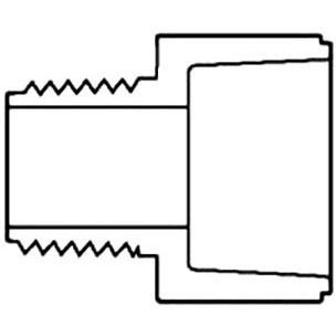 S40 PVC 436-131 RED.PVC MALE ADPT. 1 X 3/4